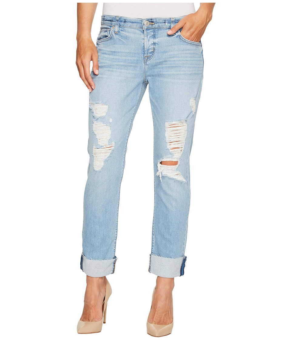 Hudson - Riley Crop Relaxed Straight Raw Cuffed in Push N Shove (Push N Shove) Women's Jeans