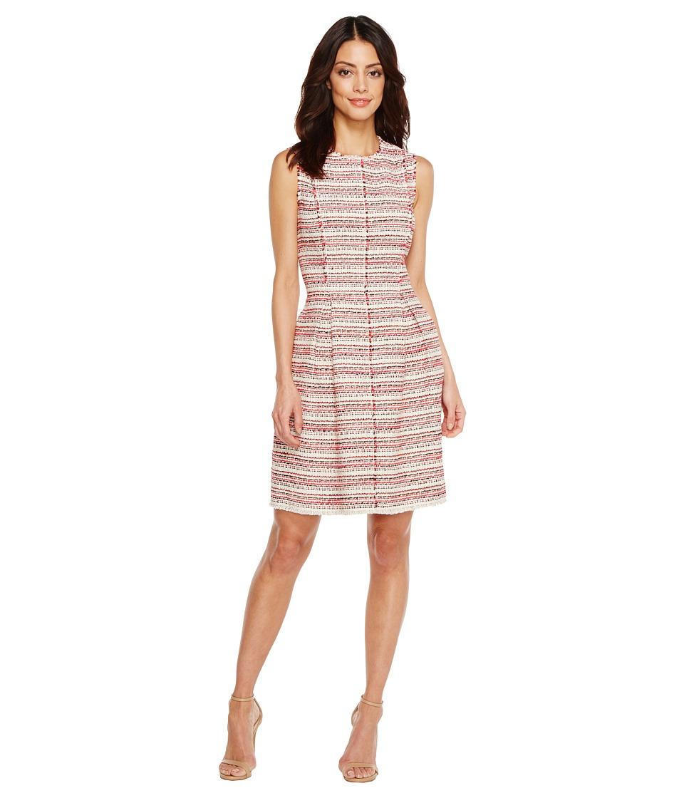 Rebecca Taylor Sleeveless Optic Tweed Dress (Candy Apple Combo) Women