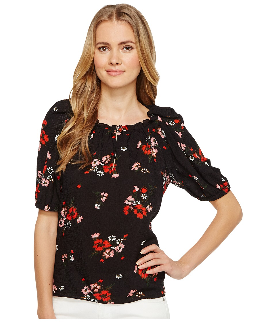 Rebecca Taylor - Short Sleeve Marguerite Top (Black) Women's Clothing