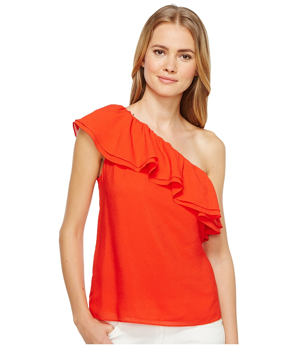 Rebecca Taylor - One Shoulder Silk Top (Candy Apple) Women's Clothing