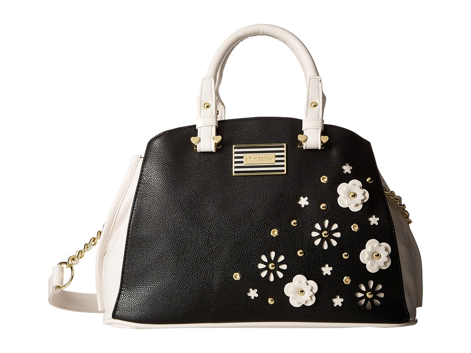 Betsey Johnson - Budding Flowers Bowl (Black) Handbags