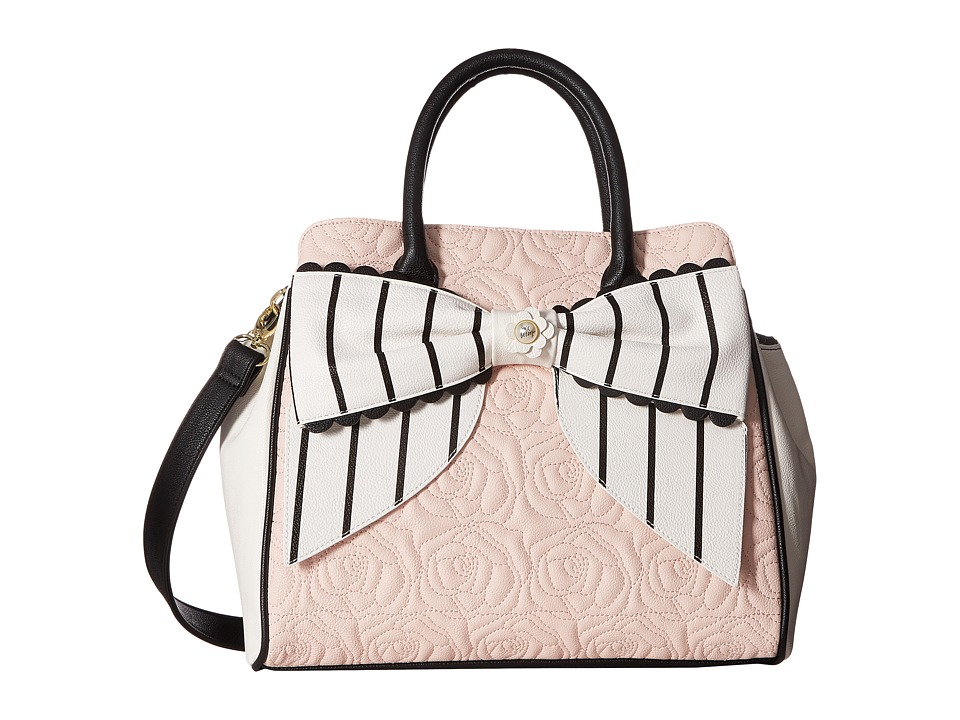 Betsey Johnson - Scallop Bow Triple Section (Blush) Handbags