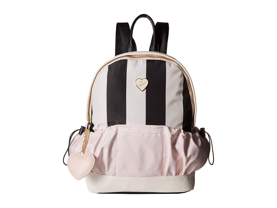Betsey Johnson - Two-Pocket Backpack (Cream/Multi) Backpack Bags