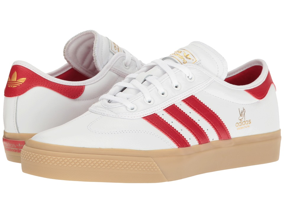 adidas - Adi-Ease Universal ADV (White/Scarlet/Gold Metallic) Men's Shoes