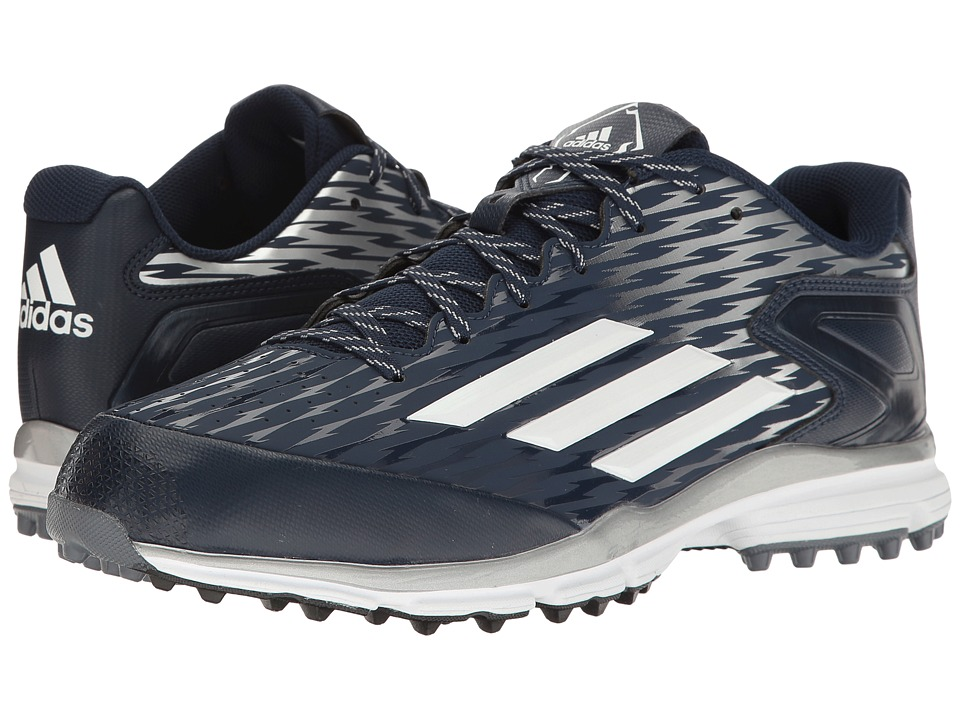 adidas - PowerAlley 3 Turf (Collegiate Navy/White/White) Men's Shoes