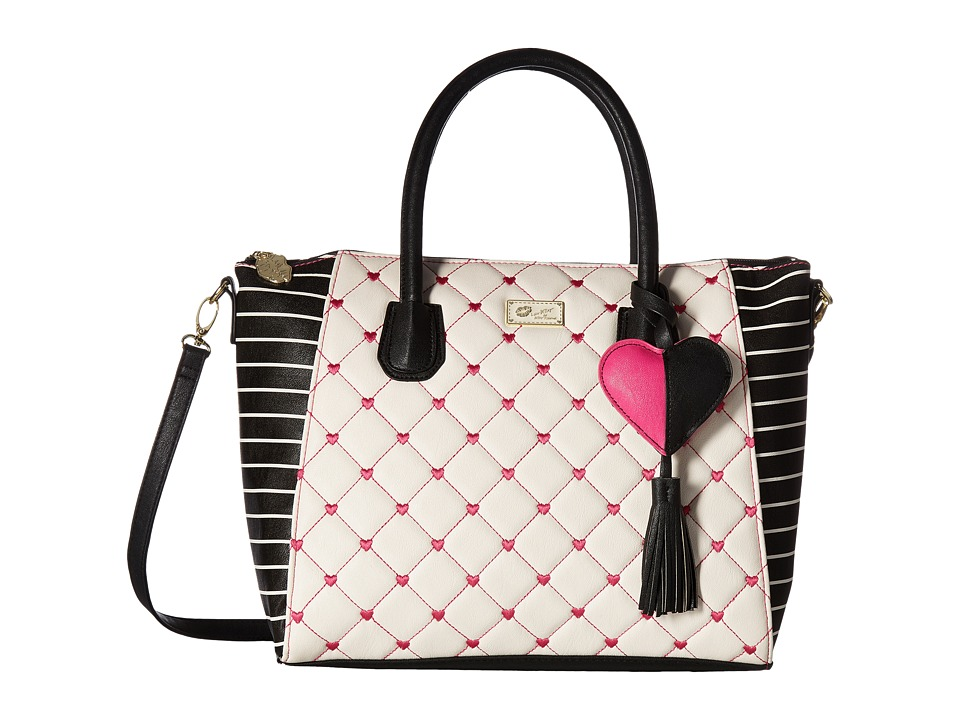Luv Betsey - Gina Satchel (Pink/Multi Heart) Satchel Handbags