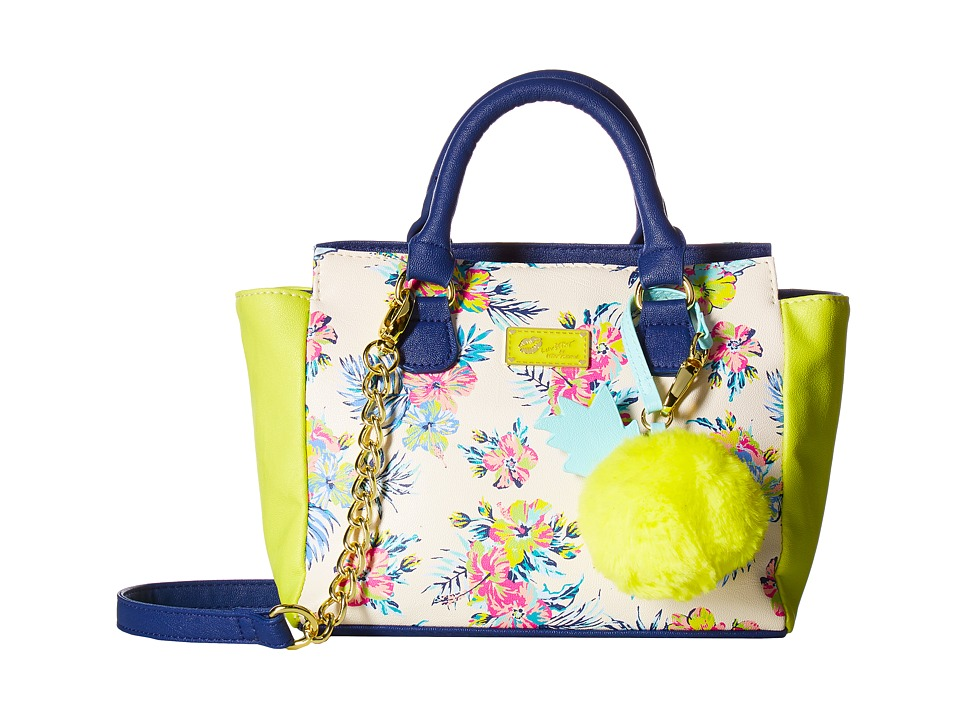 Luv Betsey - Cutie Satchel (Blue/Green) Satchel Handbags