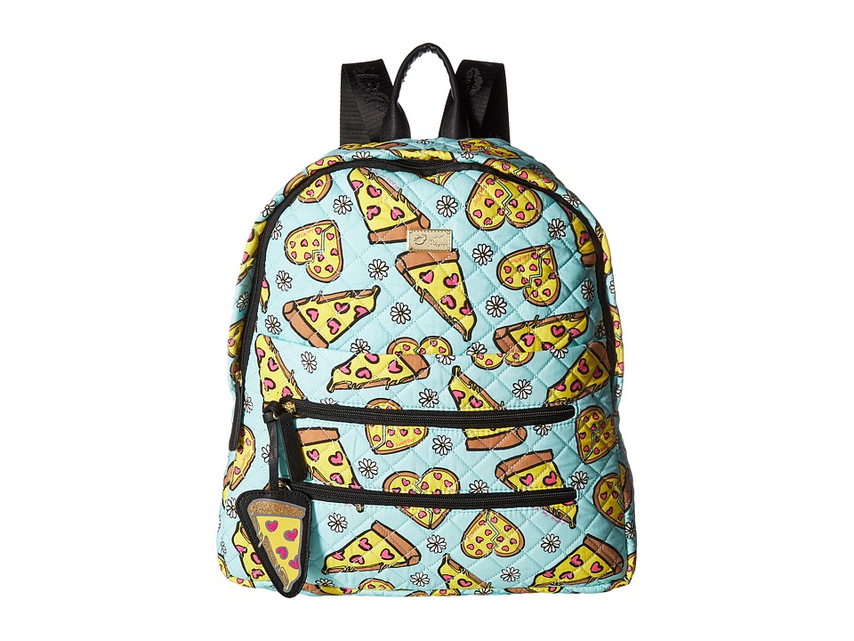 Luv Betsey - Bexx Pizza Print Backpack (Aqua) Backpack Bags