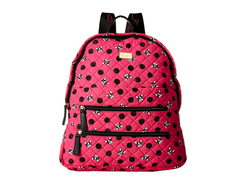 Luv Betsey - Bexx Dog Print Backpack (Black/Fuchsia) Backpack Bags