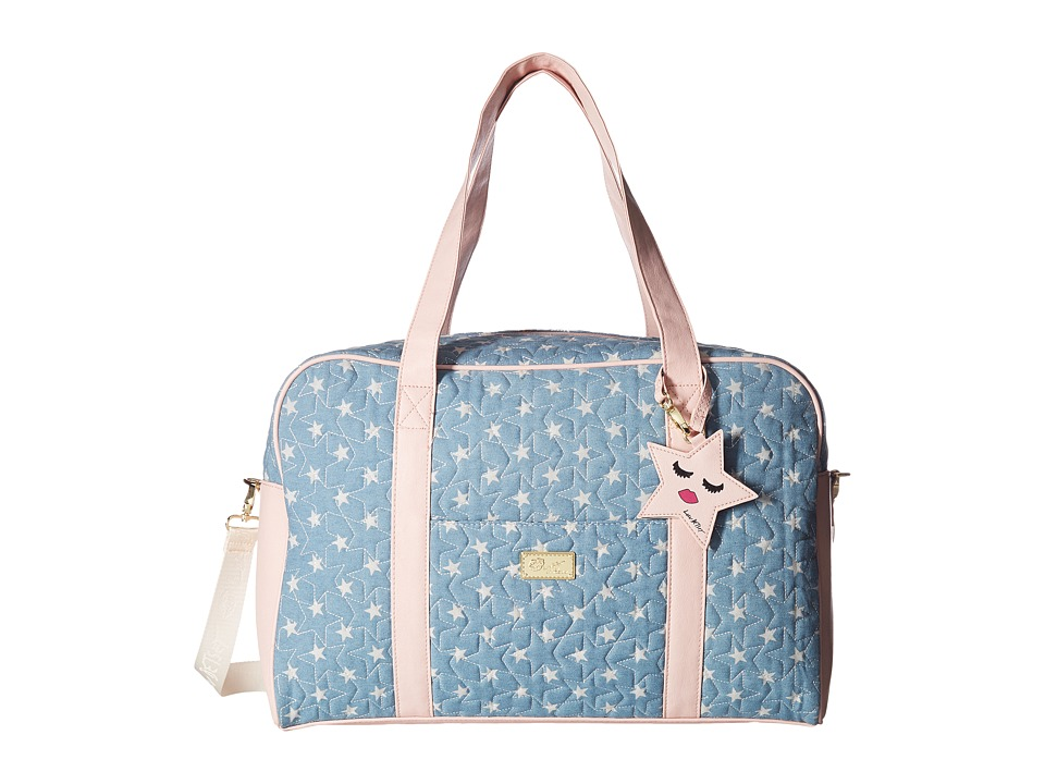 Luv Betsey - Cruisn Star Print Weekender With A Pass Through On the Back (Moon Dust) Weekender/Overnight Luggage