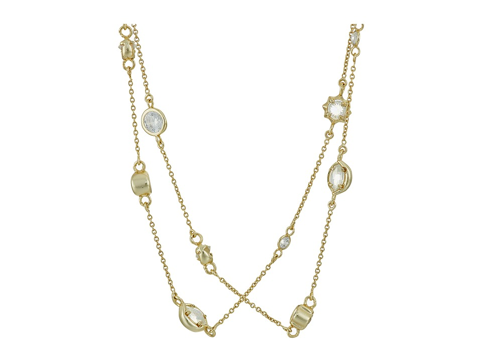 Kendra Scott - Augie Necklace (Gold/Clear Iridescent Glass) Necklace