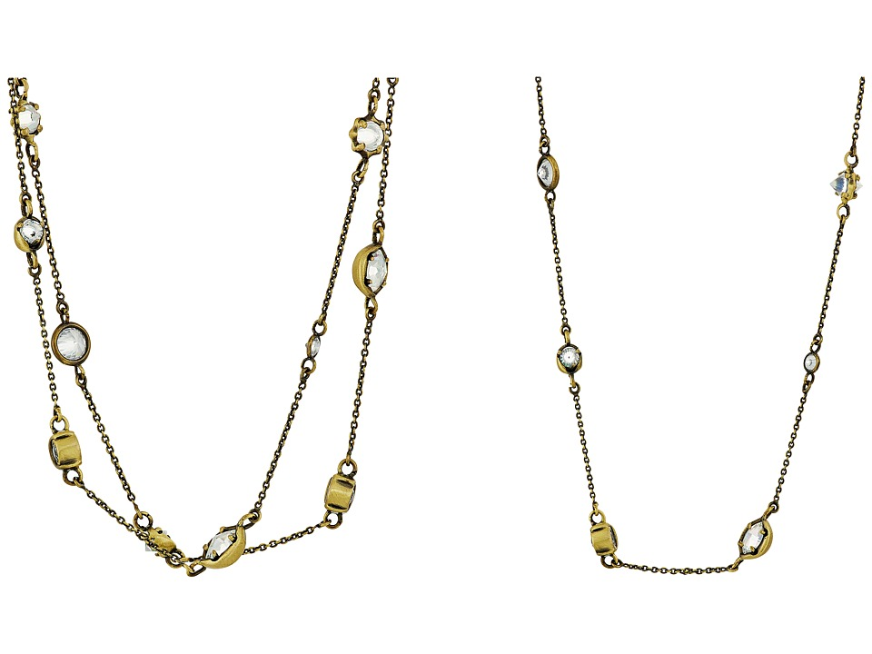 Kendra Scott - Augie Necklace (Antique Brass/Clear Iridescent Glass) Necklace
