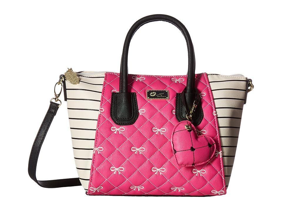 Luv Betsey - Giyaa Satchel (White/Fuchsia) Satchel Handbags