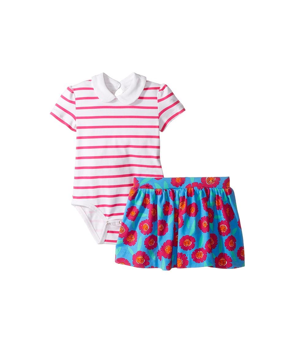 Kate Spade New York Kids - Jess Stripe Skirt Set (Infant) (Tangier Floral) Girl's Active Sets