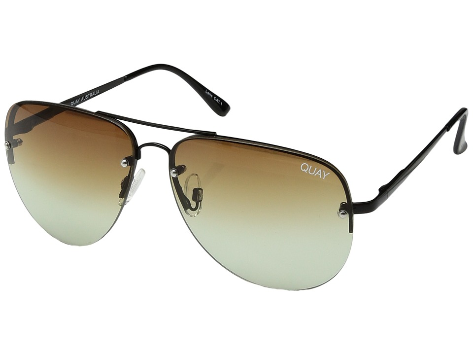 QUAY AUSTRALIA - Muse Fade (Black/Brown Fade) Fashion Sunglasses