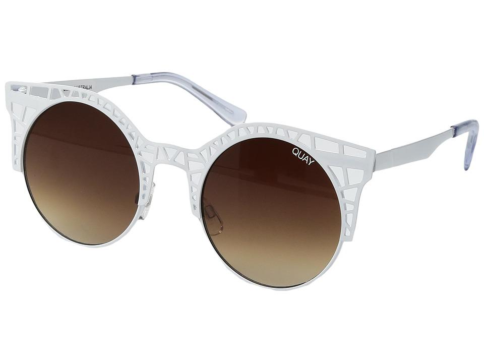 QUAY AUSTRALIA - Fleur (White/Brown) Fashion Sunglasses