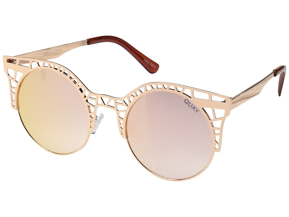 QUAY AUSTRALIA - Fleur (Rose/Rose Mirror) Fashion Sunglasses