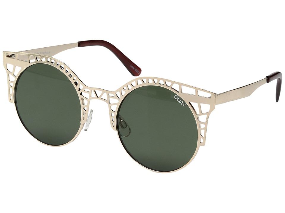 QUAY AUSTRALIA - Fleur (Gold/Green) Fashion Sunglasses