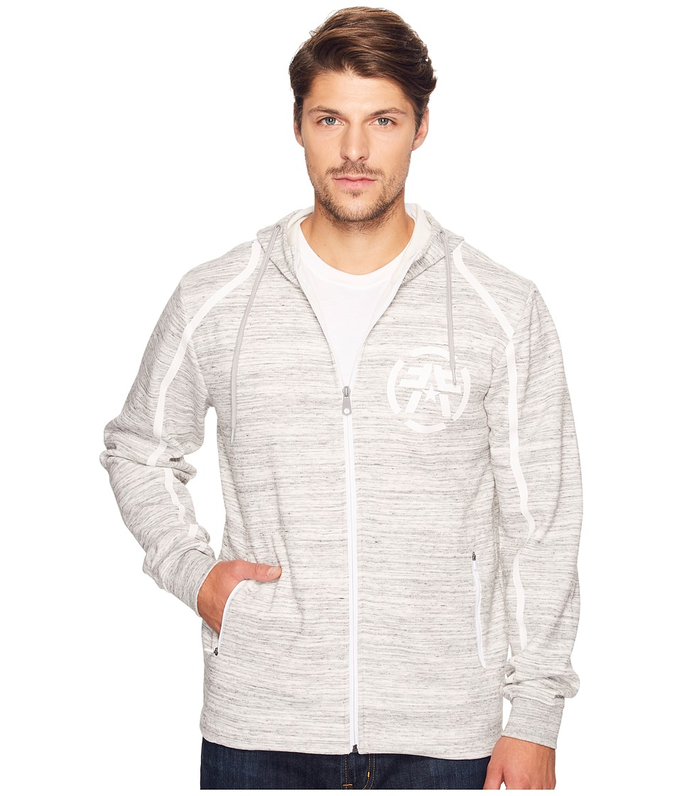 American Fighter - Given Sunday Long Sleeve Zip Hoodie (Grey) Men's Long Sleeve Pullover
