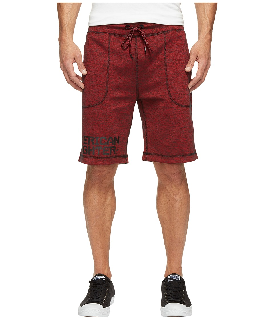 American Fighter - Money Ball Reversible Sweatshorts (Rusted Red) Men's Shorts
