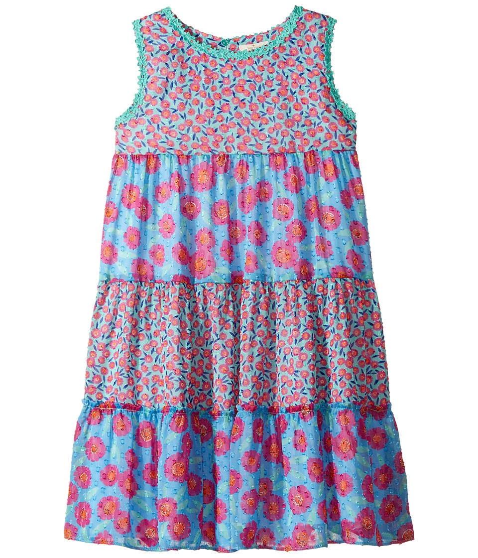 Kate Spade New York Kids - Tiered Trapeze Dress (Little Kids/Big Kids) (Tangier Floral) Girl's Dress