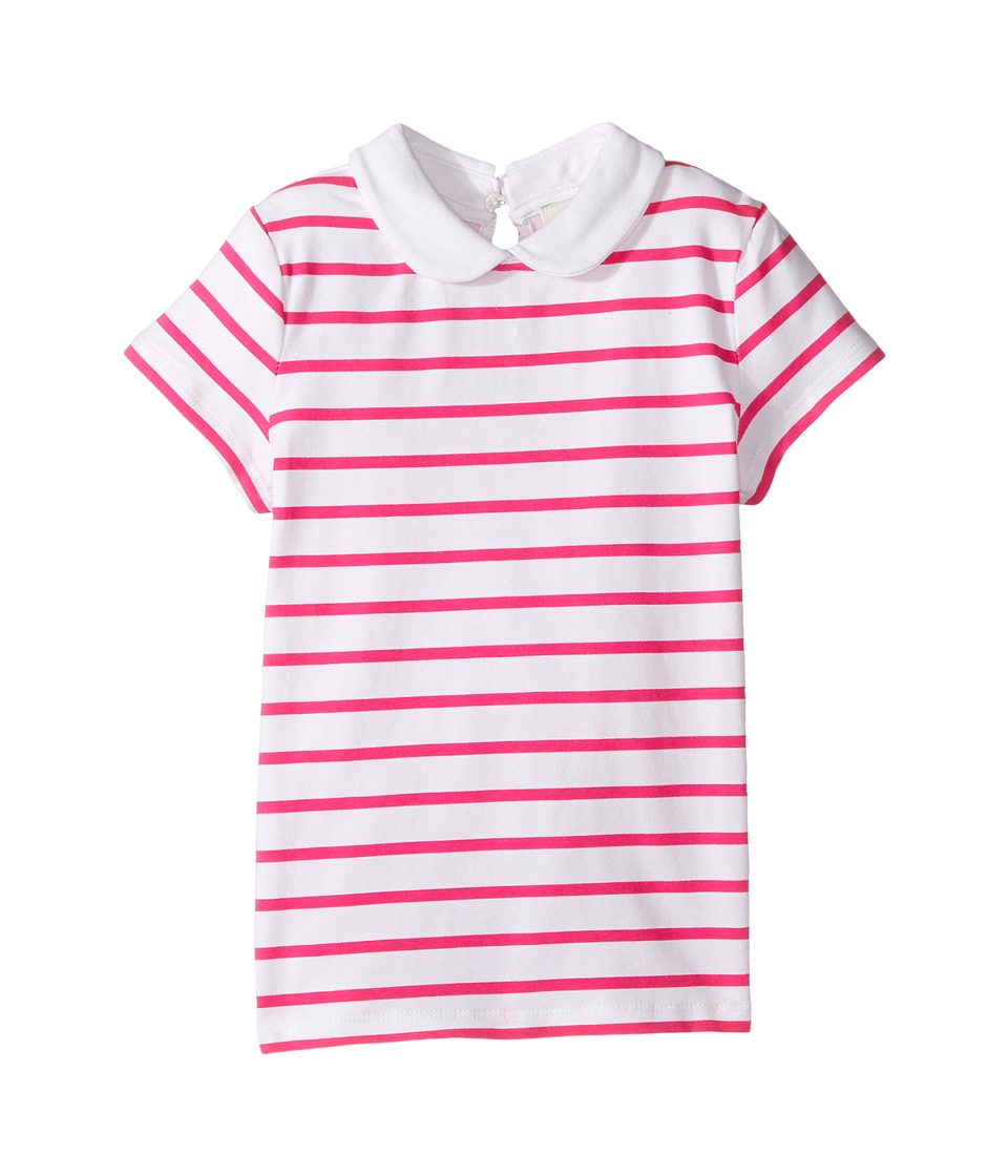 Kate Spade New York Kids - Jess Stripe Collar Top (Toddler/Little Kids) (Bougainvillea) Girl's Clothing