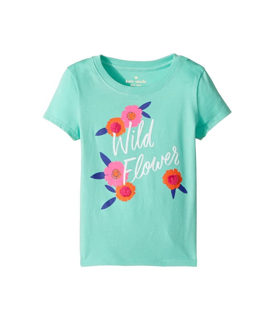 Kate Spade New York Kids - Wildflower Tee (Toddler/Little Kids) (Garden Mint) Girl's T Shirt
