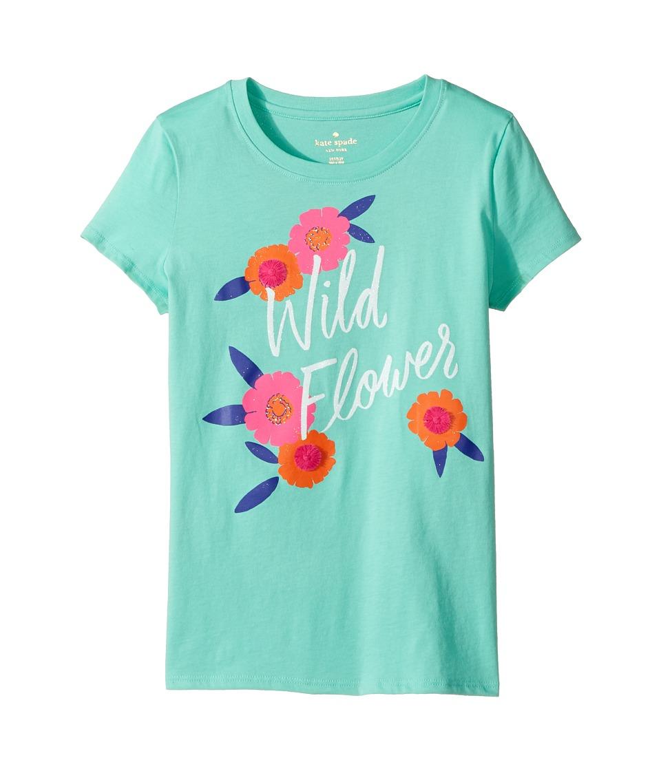 Kate Spade New York Kids - Wildflower Tee (Little Kids/Big Kids) (Garden Mint) Girl's Clothing