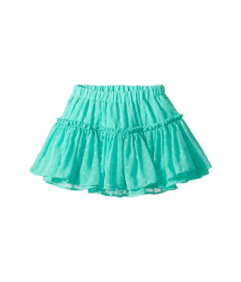 Kate Spade New York Kids - Clipped Dot Skirt (Toddler/Little Kids) (Garden Mint) Girl's Skirt