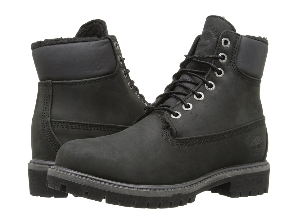 Timberland - Timberland Heritage 6 Warm Lined (Black) Men's Lace-up Boots