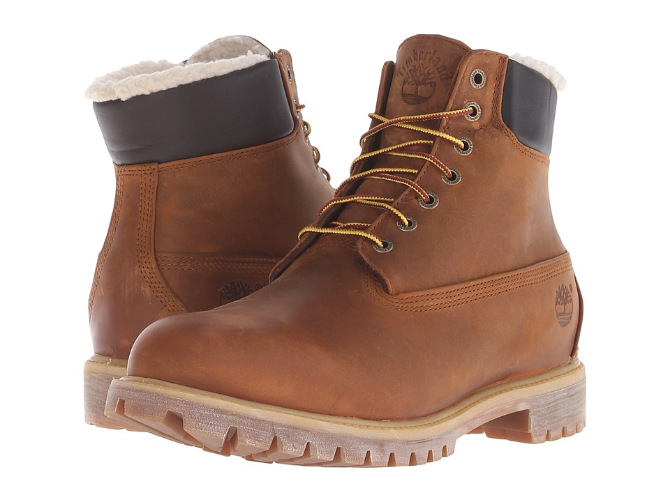 Timberland - Timberland Heritage 6 Warm Lined (Medium Brown) Men's Lace-up Boots
