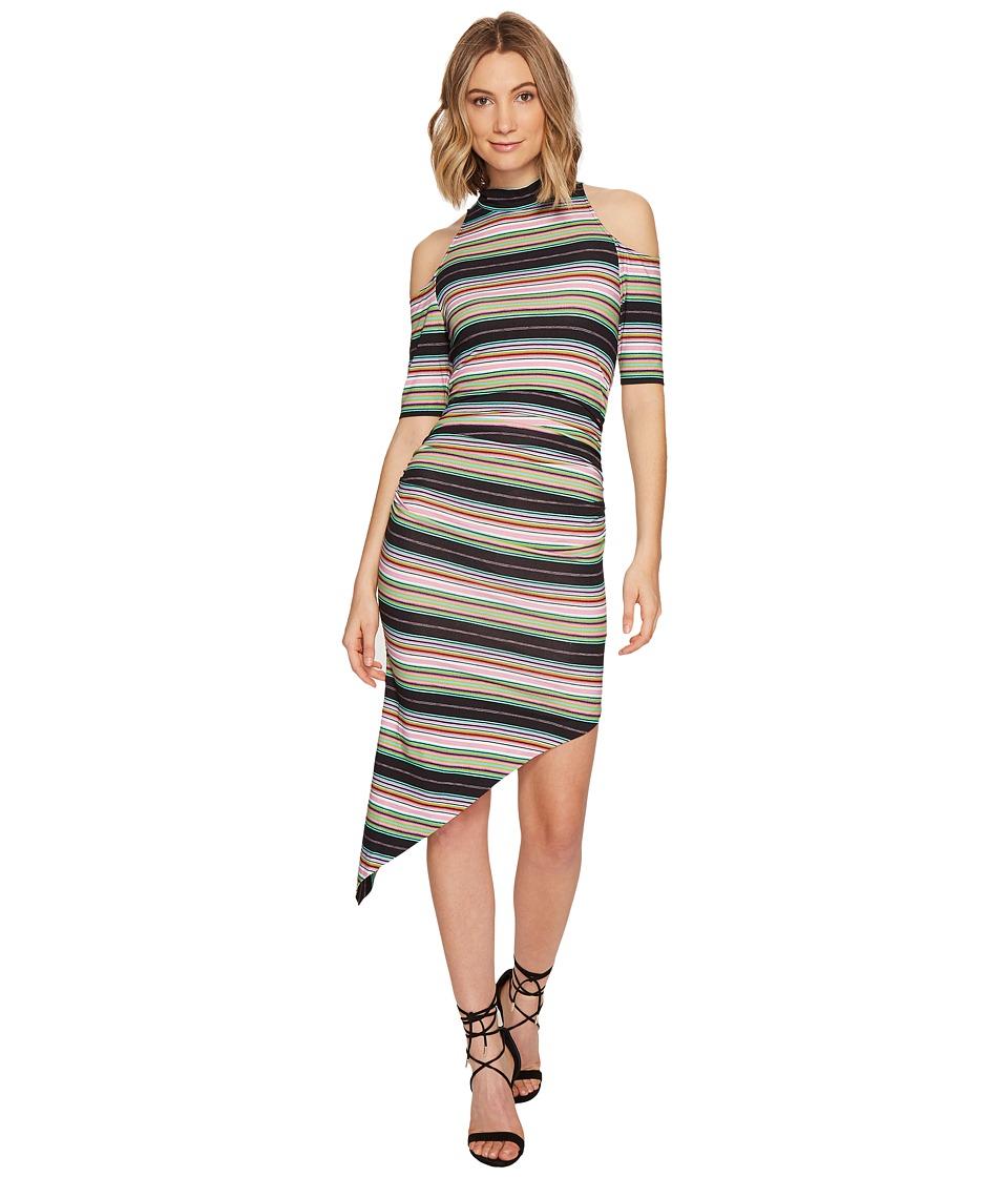 Nicole Miller - KP Festival Stripe Cold Shoulder Dress (Multi) Women's Dress