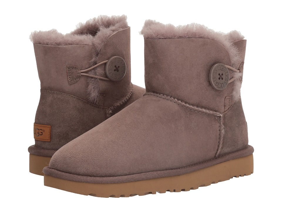 UGG Mini Bailey Button II (Stormy Grey) Women