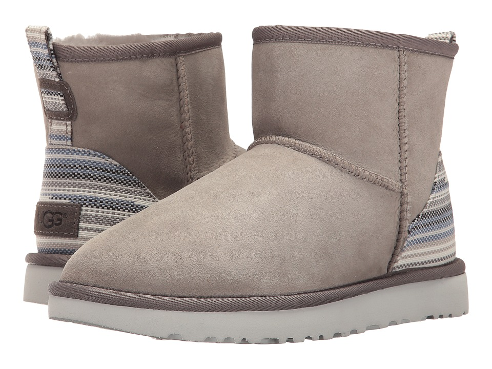 UGG - Classic Mini Serape (Seal) Women's Pull-on Boots