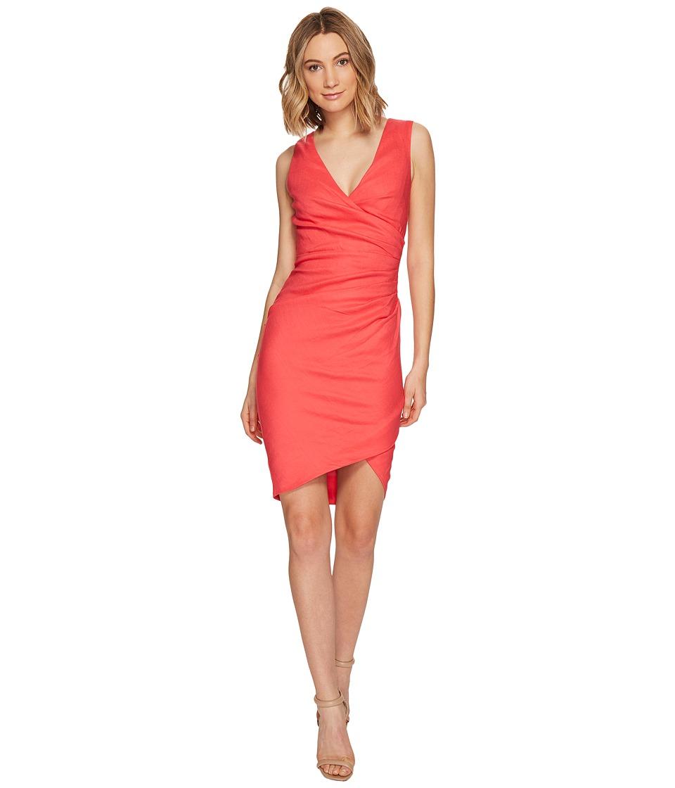 Nicole Miller - Stretch Linen Stefanie Dress (Snapdragon) Women's Dress
