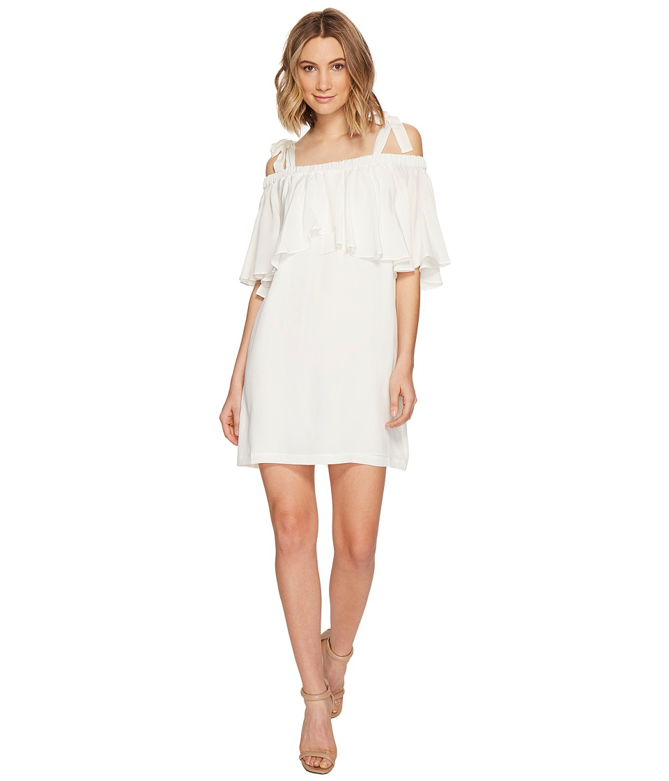 Nicole Miller - Silk Bow Tie Dress (Ivory) Women's Dress