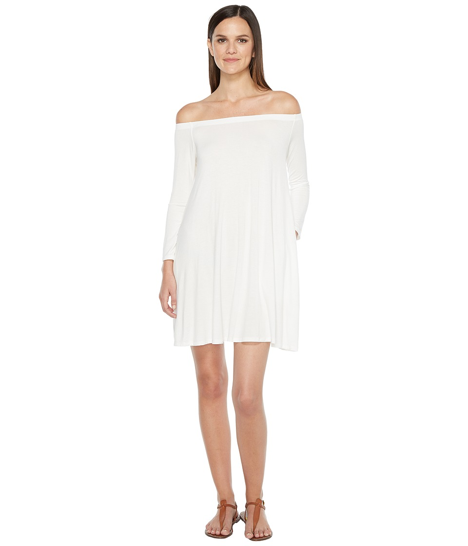 Culture Phit - Taryn Long Sleeve Off the Shoulder Dress (Ivory) Women's Dress