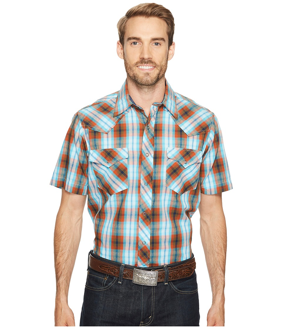 Roper - 0999 Copper Check (Blue) Men's Clothing
