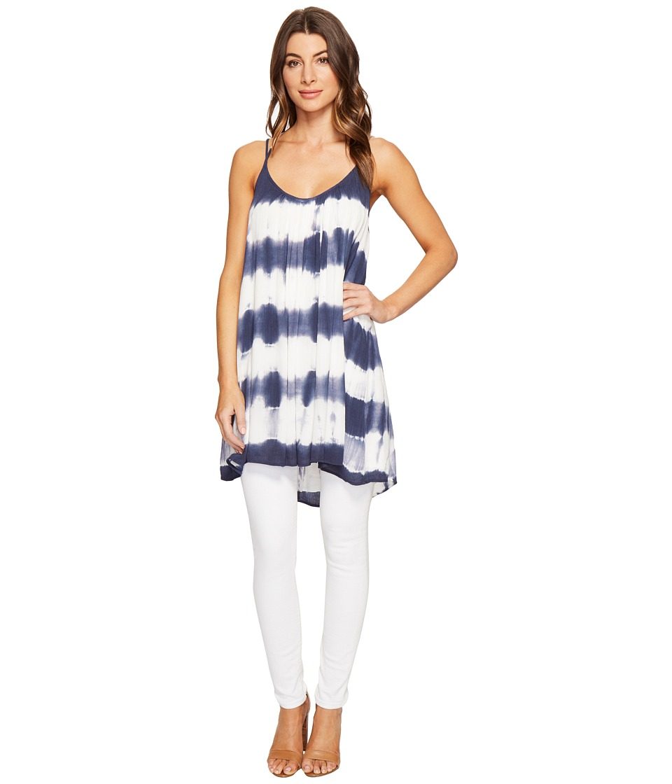 Culture Phit - Karlie Spaghetti Strap Tunic (Navy/Ivory) Women's Blouse