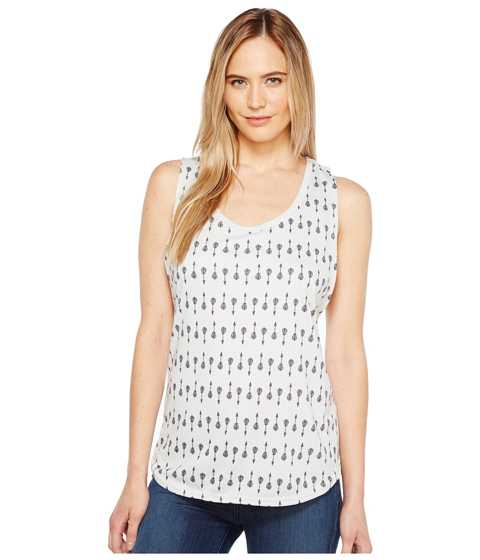 Roper - 1134 Poly Rayon Loose Fit Tank Top (Grey) Women's Sleeveless