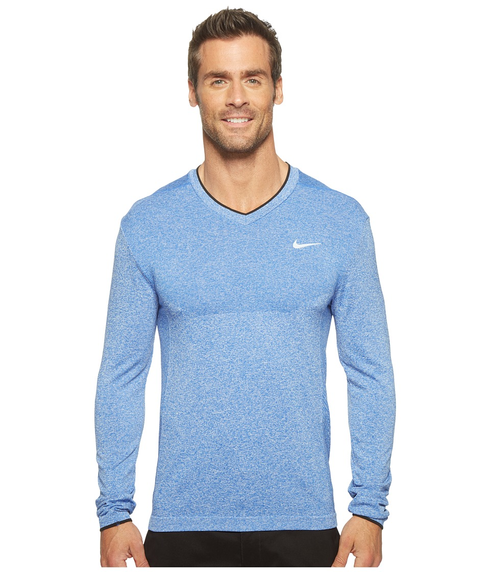 Nike - Long Sleeve Top (Game Royal/Black) Men's Clothing