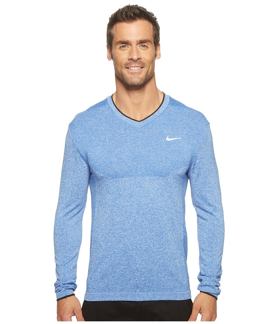 Nike - Long Sleeve Top (Game Royal/Black) Men's Clothing