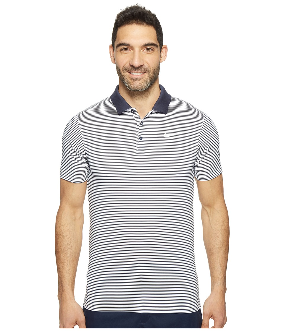 Nike - Short Sleeve Polo (College Navy/White/White) Men's Clothing
