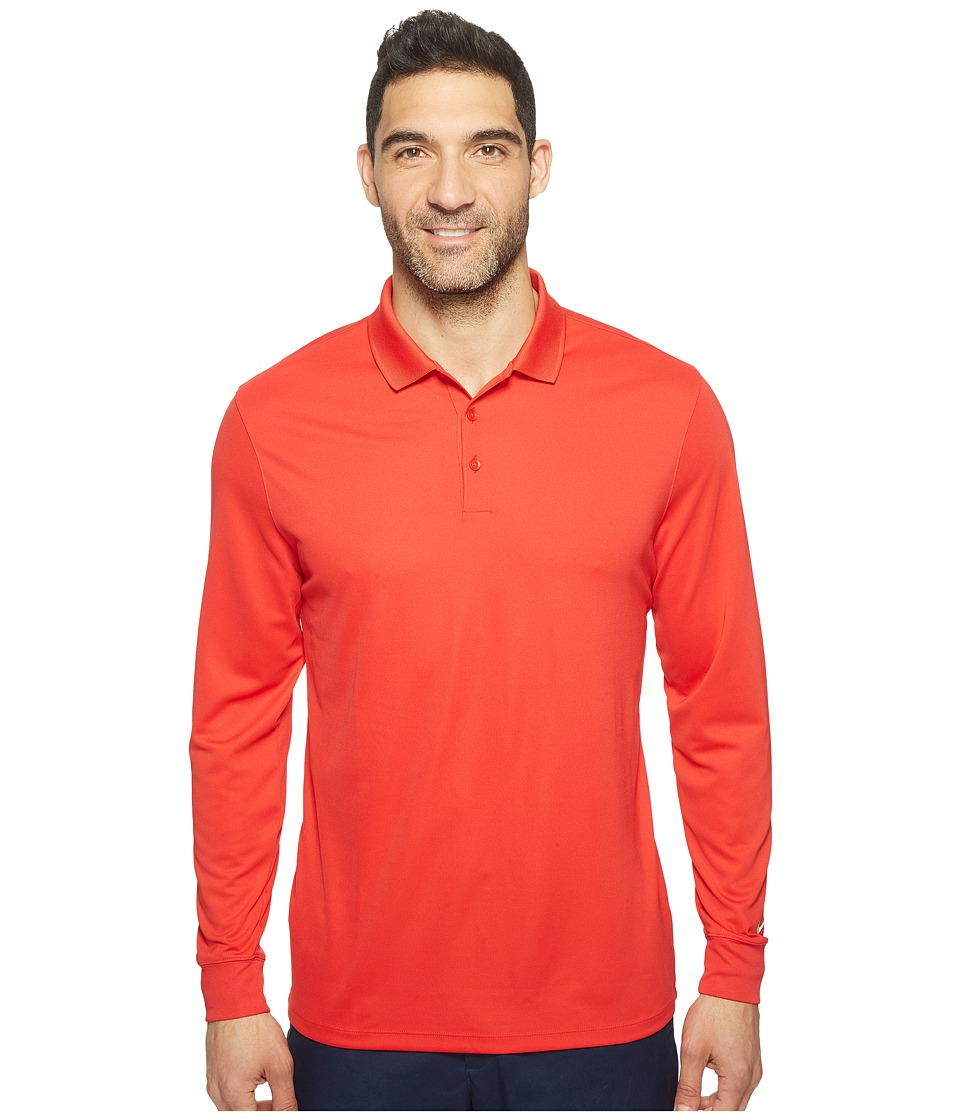 Nike - Long Sleeve Polo (University Red/White) Men's Clothing