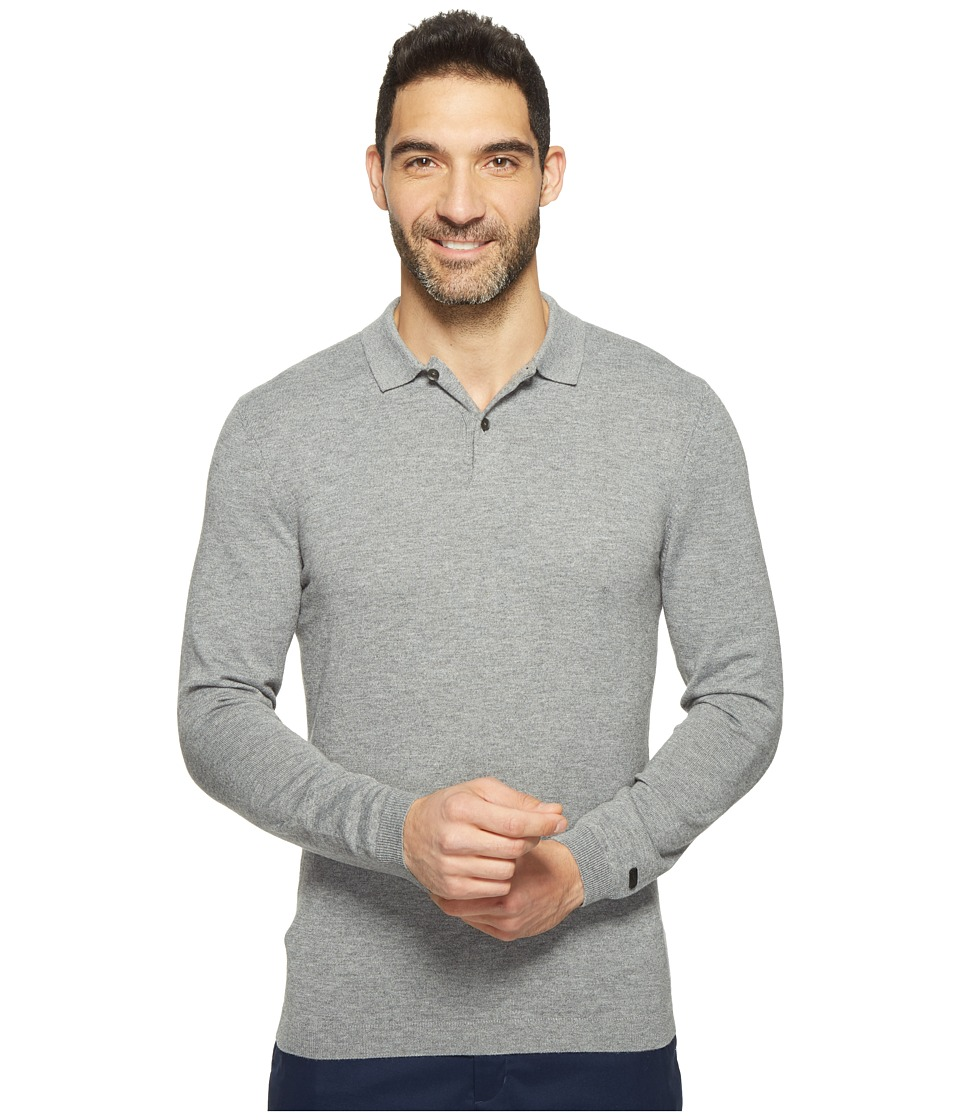 Nike - Long Sleeve Polo (Carbon Heather/Black Oxidized) Men's Clothing