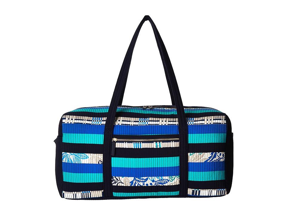 Vera Bradley Luggage - Large Duffel (Santiago Stripes) Duffel Bags