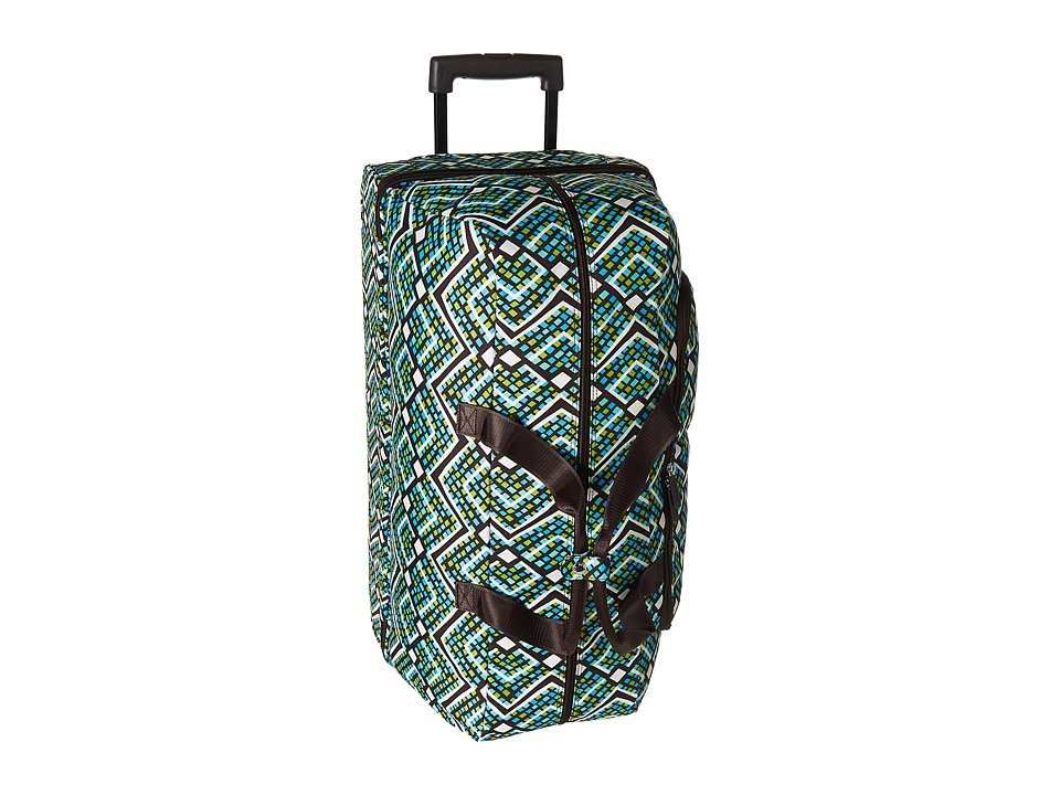 Vera Bradley Luggage - Lighten Up Large Wheeled Duffel (Rain Forest) Duffel Bags