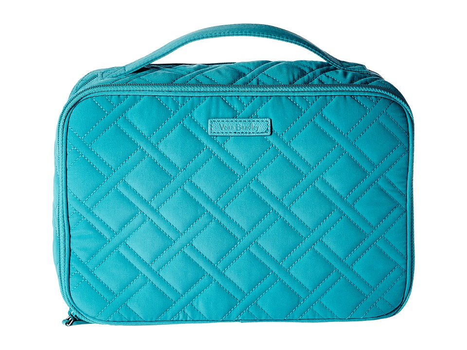 Vera Bradley Luggage - Large Blush Brush Makeup Case (Turquoise Sea) Cosmetic Case