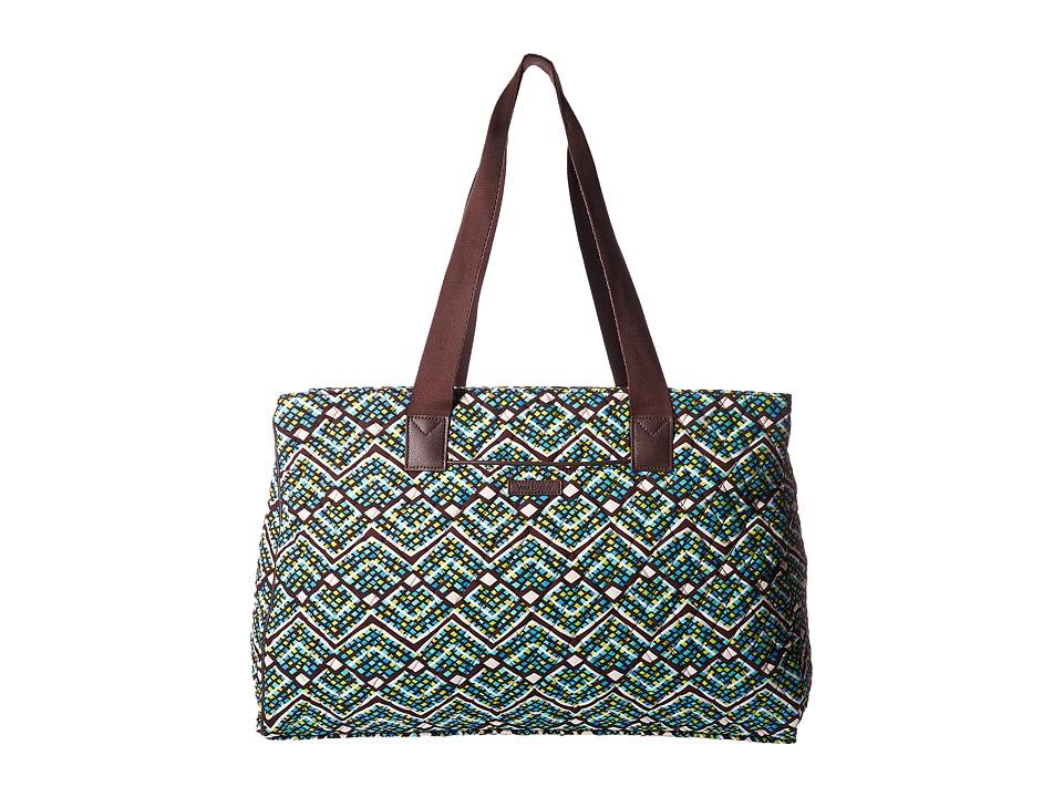 Vera Bradley Luggage - Triple Compartment Travel Bag (Rain Forest) Bags