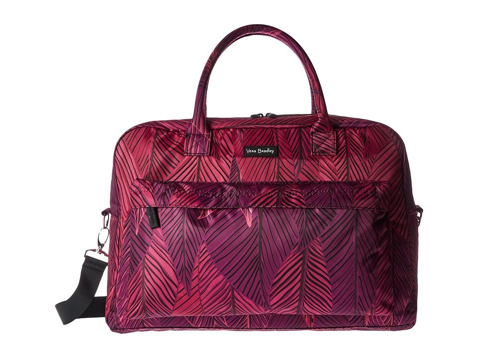 Vera Bradley Luggage - Perfect Companion Travel Bag (Banana Leaves Fuchsia) Bags